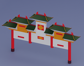 3D model Ancient Chinese Entrance