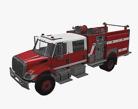 3D model Fire Truck Red