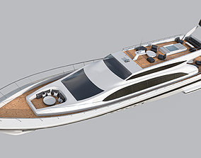 Yacht 1 3D model low-poly