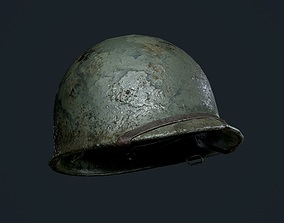 WW2 American Soldier Military Helmet Game 3D asset