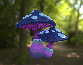 Fantasy mushroom 3D asset game-ready