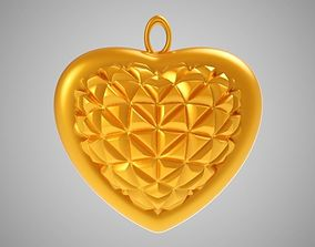 3D printable model Cone Heart Pendant