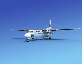 3D model Fokker 50 UN
