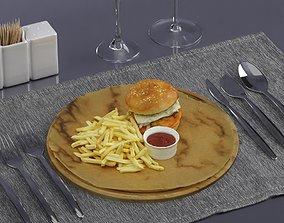 3D model Hamburger 0009