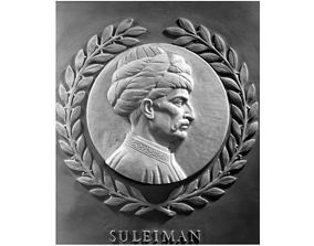 Suleiman The Magnificent Relief Model sculpture