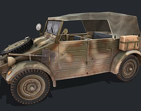 3D asset low-poly Kubelwagen