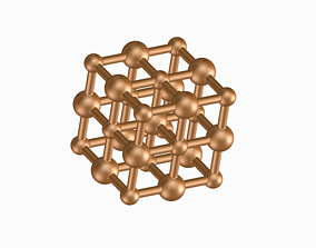 Sodium Chloride Molecule - Ball and 3D printable model