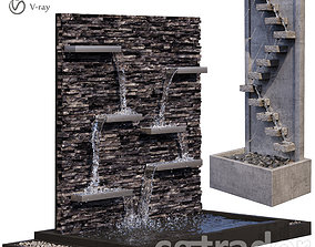 Sandstone Wall Fountains 3D model