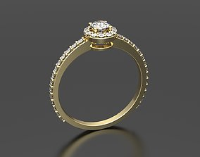 jewelry 3D printable model Engagement ring with diamond