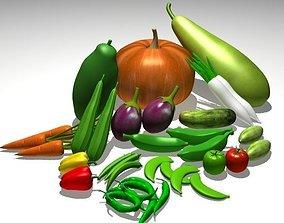 resturant 3D model Vegetable collection