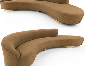 FreeForm Curved Sofa with Arm by Vladimir Kagan 3D model