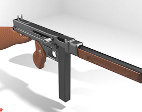 3D Submachine Gun - Thompson M1A1