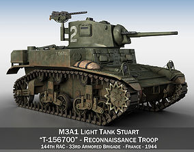 3D M3A1 Light Tank Stuart 156700