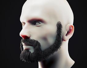 Beard Low Poly 18 3D asset