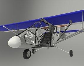 propeller Aerolite 103 Ultra Light Aircraft 3D