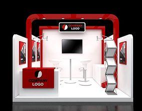 3D Booth Minimalis 3x3