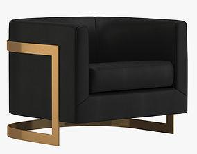 Milo Baughman Chair 3D