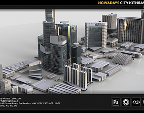 3D asset City Kitbash Collection Cityscape