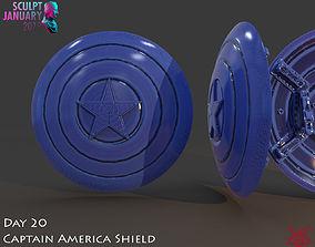 Captain America Shield 3 Versions 3D printable model