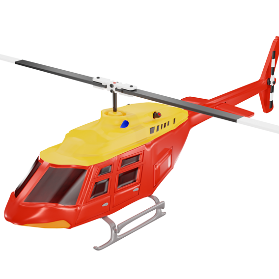 Lowpoly Helicopter 3d model