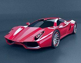 3D model HyperOn supercar concept