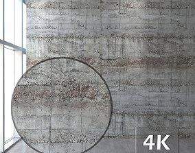 Concrete with formwork traces 3D asset