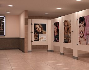 3D model public-bathroom Public Bathroom