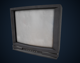 CRT Television PBR 3D asset