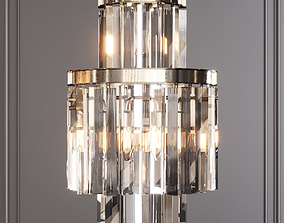 RH 1920S ODEON CLEAR GLASS FRINGE SCONCE 3-TIER 3D model