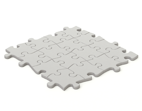 Repeatable jigsaw puzzle module 3D model