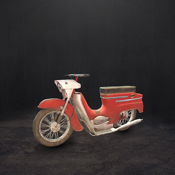 Old soviet motorcycle