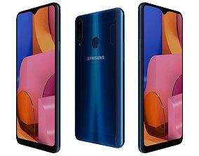 3D Samsung Galaxy A20s Blue