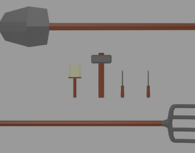 3D asset game-ready Low Poly Tools