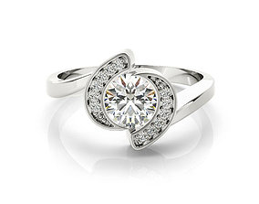 ring cad rose gold solitaire engagement ring 3dm