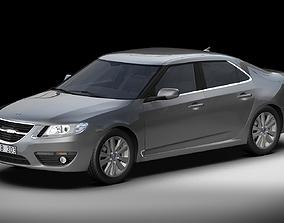 3D 2010 Saab 9-5 Sedan