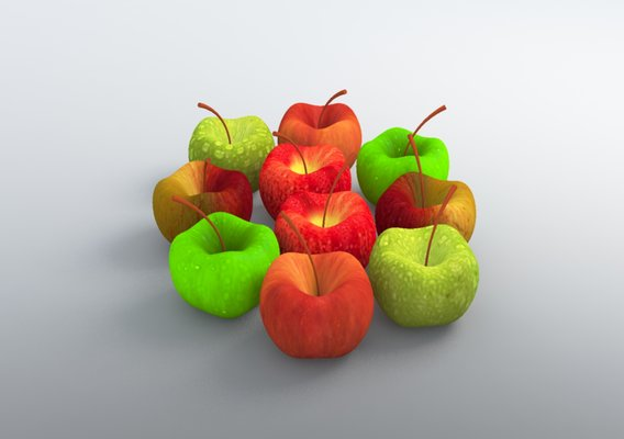 Apple Model with FFD - 3x3x3 modifier