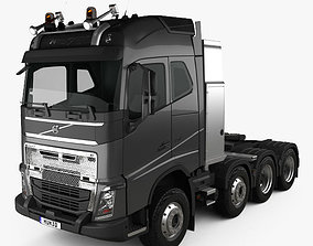 Volvo FH 750 Globetrotter Cab Tractor Truck 4-axle 2014 3D