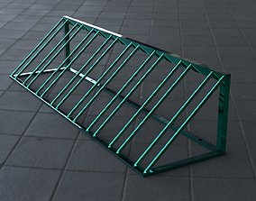 3D asset Classic bicycle parking with attachment for the 1