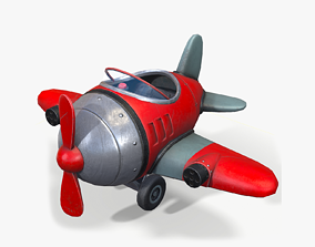 3D model low-poly Cartoon Airplane