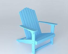 3D model Sky blue armchair PORTLAND