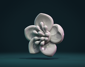 printable Apple flower 3D printable model