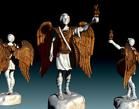 3D printable model Arch-angel Gabriel - CNC Rounting - 4