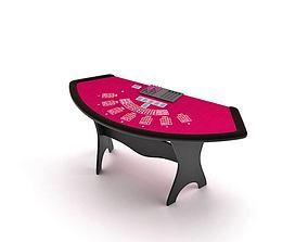 Poker Gaming Table 3D model