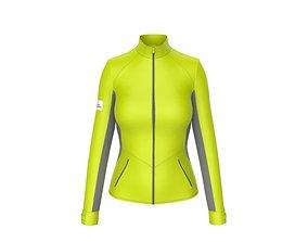 3D model Women sport jacket with keyshot scene