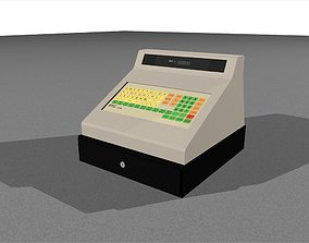 3D model Cash Register With Opening Drawer