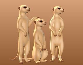 Meerkats 3D print model