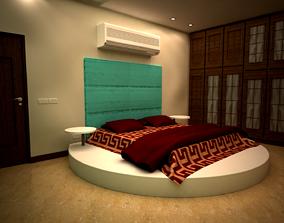 Master Bedroom Design V ray light setup 3D