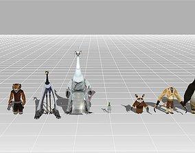 3D asset Kung Fu Panda Kit