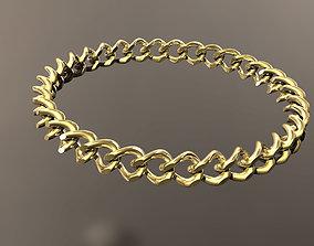 3D printable model Cuban bracelet