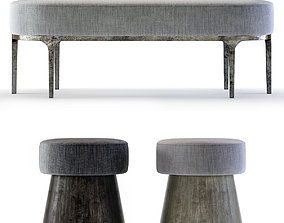 3D model Bernhardt Linea Benches
